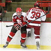 Bobby Torney (St. Lawrence - 55), Pier-Olivier Michaud (Harvard - 39) - The Harvard University Crimson defeated the St. Lawrence University Saints 4-3 on senior night Saturday, February 26, 2011, at Bright Hockey Center in Cambridge, Massachusetts.