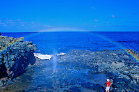 Rainbow in the mist over the Nakalele blowhole