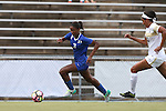 19 August 2016: Duke's Imani Dorsey (3) is chased by Wofford's Emma Fletcher (right). The Duke University Blue Devils played the Wofford College Terriers in a 2016 NCAA Division I Women's Soccer match. Duke won the game 9-1.