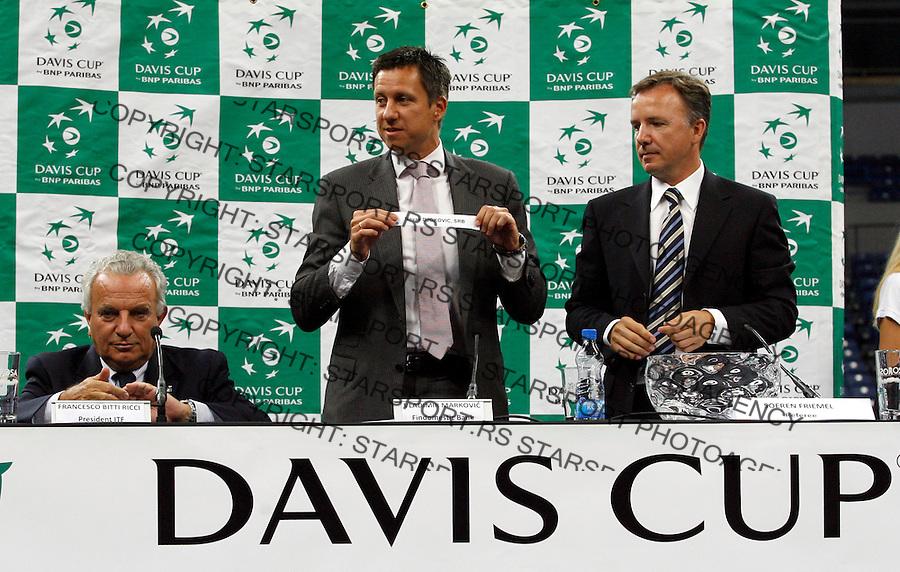 Tenis, Davis Cup 2010.Serbia Vs. Czech Republic, semifinals.Official draw.Francesko Ricci Bitti, left and Vladimir Markovic.Beograd, 16.09.2010..foto: Srdjan Stevanovic/Starsportphoto ©