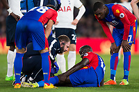 Crystal Palace's Mamadou Sakho down injured and has to be stretchered off            <br /> <br /> <br /> Photographer Craig Mercer/CameraSport<br /> <br /> The Premier League - Crystal Palace v Tottenham Hotspur - Wednesday 26th April 2017 - Selhurst Park - London<br /> <br /> World Copyright &copy; 2017 CameraSport. All rights reserved. 43 Linden Ave. Countesthorpe. Leicester. England. LE8 5PG - Tel: +44 (0) 116 277 4147 - admin@camerasport.com - www.camerasport.com