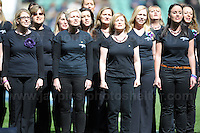 Twickenham, London, England. Sat 27th April 2013. The Military Wives choir during pre match entertainment at the Army v Navy Babcock trophy rugby. Credit for pictures to Jeff Thomas Photography - www.jaypics.photoshelter.com - 07837 386244 - Use of images are restricted without prior permission of the copyright owner Jeff Thomas Photography.