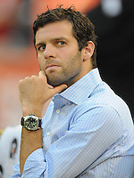 DC United Head Coach Ben Olsen.  FC. Dallas defeated DC United 3-1 at RFK Stadium, Saturday August 14, 2010.