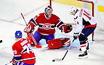 10 February 2010: Montreal Canadiens' goaltender Carey Price makes a first period save against center Tomas Fleischmann of the Washington Capitals at the Bell Centre in Montreal, Quebec, Canada. The Canadiens defeated the Capitals 6-5 in sudden death overtime, ending Washington's team-record winning streak at 14 games. Mandatory Credit: Ed Wolfstein Photo