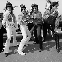 Elvis Presley impersonators and fans