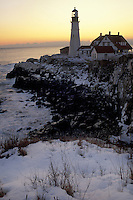 Portland Head Light Winter