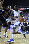 DeAndre Liggins ran the ball against Coppin State on Tuesday, December 28, 2010 at Rupp Arena. Photo by Latara Appleby | Staff