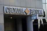 Croatia Banka / Kroatische Bank Republik Kroatien - Republika Hrvatska - Sign of croatian bank in the Republic of Croatia