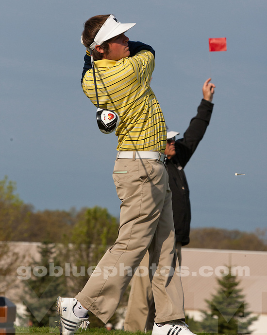University of Michigan men's golf finished in seventh on Day 2 of the Big Ten Tournament in West Lafayette, IN, on April 30, 2011