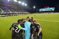 San Jose, CA - Friday April 14, 2017: San Jose Earthquakes Starting Eleven  during a Major League Soccer (MLS) match between the San Jose Earthquakes and FC Dallas at Avaya Stadium.