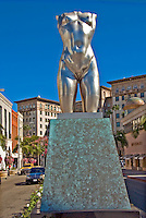 Robert Graham's Torso, a nude sculpture in the middle of Rodeo Drive, Beverly Hills, California, , Vertical image