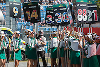March 20, 2016: The grid girls prepare for the start of the 2016 Australian Formula One Grand Prix at Albert Park, Melbourne, Australia. Photo Sydney Low