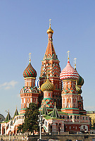 Russian architecture orthodox Cathedral on Red Square in Moscow.