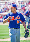 13 March 2014: New York Mets pitcher Daisuke Matsuzaka walks to the dugout from the mound during a Spring Training game against the Washington Nationals at Space Coast Stadium in Viera, Florida. The Mets defeated the Nationals 7-5 in Grapefruit League play. Mandatory Credit: Ed Wolfstein Photo *** RAW (NEF) Image File Available ***