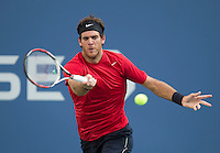 Juan Martin Del Potro..Tennis - US Open - Grand Slam -  New York 2012 -  Flushing Meadows - New York - USA - Wednesday 5th September  2012. .© AMN Images, 30, Cleveland Street, London, W1T 4JD.Tel - +44 20 7907 6387.mfrey@advantagemedianet.com.www.amnimages.photoshelter.com.www.advantagemedianet.com.www.tennishead.net