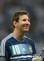 FUSSBALL Nationalmannschaft Freundschaftsspiel:  Deutschland - Argentinien             15.08.2012 Lionel Messi (Argentinien)