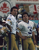 Bob Cameron and Trevor Kennard Winnipeg Blue Bombers. Copyright photograph Scott Grant