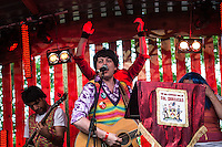 The Bar Steward Sons of Val Doonican onstage.