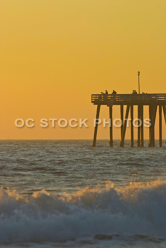 Fishing off the pier of san clemente socal stock photos for Fishing off a pier