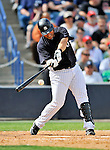 5 March 2011: New York Yankees' infielder Jorge Vazquez in action during a Spring Training game against the Washington Nationals at George M. Steinbrenner Field in Tampa, Florida. The Nationals defeated the Yankees 10-8 in Grapefruit League action. Mandatory Credit: Ed Wolfstein Photo