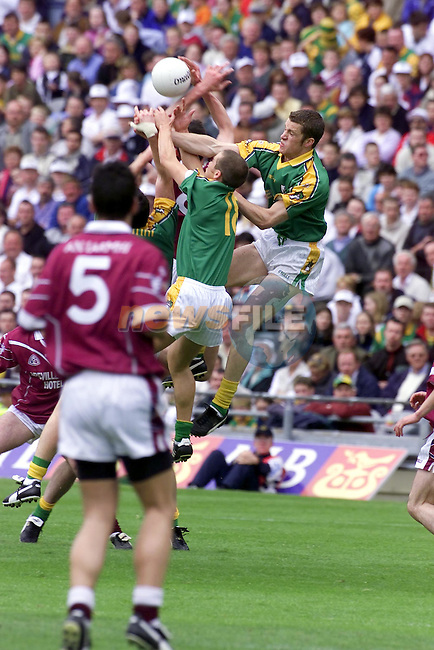 Meaths Paul Shankey goes for the ball during the meath v Westmeath match in Croke pairc..Picture Fran Caffrey Newsfile.
