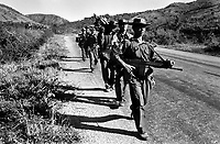 Burma Army troops on patrol in Shan State.