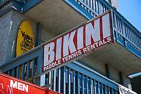 Bikini Rentals, Oceanfront Walk, Merchant, Venice, CA, Ocean Front Walk, Venice Beach, Los Angeles, California, United States of America