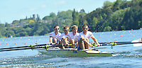Hamilton, NEW ZEALAND. GBR LM4-, Bow Richard CHAMBERS, Paul MATTICK, Rob WILLIAMS and Chris BARTLEY, move away from the start in the Men's Lightweight Four.  2010 World Rowing Championship on Lake Karapiro Sunday  31/10/2010. [Mandatory Credit Peter Spurrier:Intersport Images].