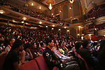 "Students during a Q & A before The Rockefeller Foundation and The Gilder Lehrman Institute of American History sponsored High School student #EduHam matinee performance of ""Hamilton"" at the Richard Rodgers Theatre on 5/10/2017 in New York City."