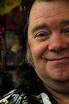 Psychedelic and punk music pioneer, Roky Erickson appearing at a book signing in Austin Texas.