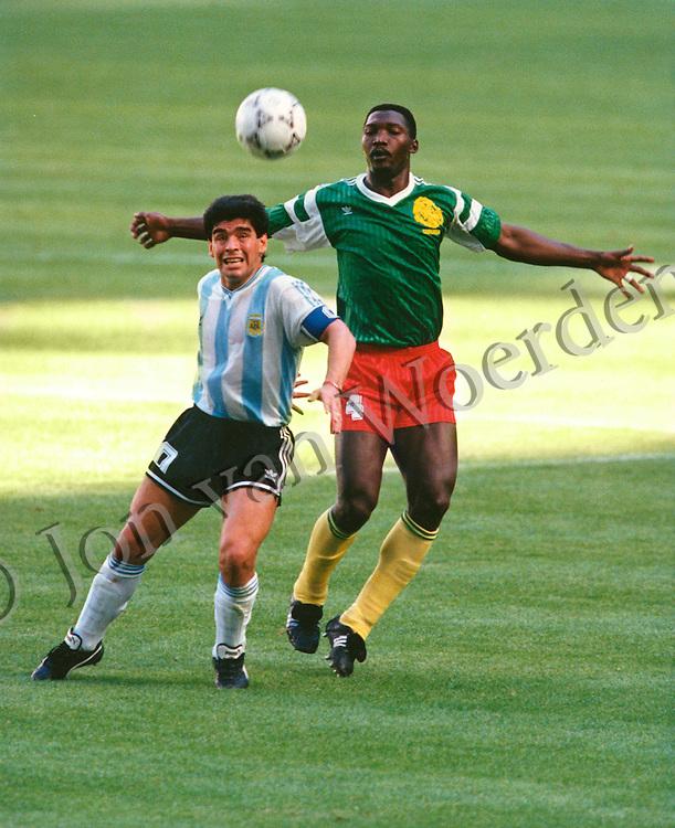 at World Cup Italia 90 in Milan's San Siro stadium on June 8th 1990