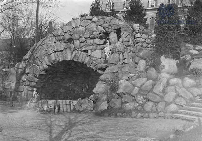 GTJS 2/14:  The Grotto, c1900..Image from the University of Notre Dame Archives.