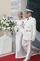 Albert II et Charlene Wittstock