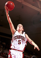 Christina Batastini during the 1999-2000 women's basketball season at Maples Pavilion in Stanford, CA.