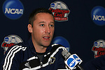 12 December 2009: Head coach Caleb Porter. The University of Akron Zips held a press conference at WakeMed Soccer Stadium in Cary, North Carolina on the day before playing Virginia in the NCAA Division I Men's College Cup championship game.