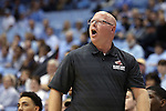 07 November 2014: Belmont head coach Martin Unger. The University of North Carolina Tar Heels played the Belmont Abbey College Crusaders in an NCAA Division I Men's basketball exhibition game at the Dean E. Smith Center in Chapel Hill, North Carolina. UNC won the game 112-34.