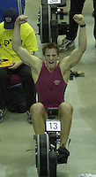 .&copy; Peter Spurrier/Sports Photo +44 (0) 7973 819 551.PPP Healthcare British Indoor Rowing Championships.18th Nov. 2001.National Indoor Arena..Matthew Langridge, (Junior Men's Single World Champion 2001) breaks the Junior World rowing record for Ergo's at in the junior men's event at the National Indoor Area - Birmingham. .. ........... [Mandatory Credit: Peter SPURRIER/Intersport Images]<br />