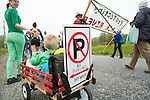 A young boy and his protest sign. On May 30, 2015, over 500 Canadian citizens and First Nations marched in Red Head, Saint John, at the End of the Line for the proposed Energy East pipeline. The people were protesting the proposed mega pipeline and the tank terminal that would destroy and the Red Head community and endanger the Bay of Fundy. If approved, TransCanada's Energy East pipeline would travel 4600km from Alberta to Saint John, New Brunswick, shipping 1.1 million barrels of crude oil and bitumen for export through the Bay of Fundy, a critical habit for Right whales and home to thousands of jobs in Tourism and Fishing.