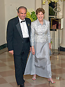 United States Senator Jeanne Shaheen (Democrat of New Hampshire) and William Shaheen arrive for the State Dinner in honor of Prime Minister Trudeau and Mrs. Sophie Gr&eacute;goire Trudeau of Canada at the White House in Washington, DC on Thursday, March 10, 2016.<br /> Credit: Ron Sachs / Pool via CNP
