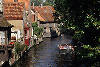 Europe/Belgique/Flandre/Flandre Occidentale/Bruges : Promenade sur les canaux