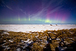 Spring '15 aurora by moonlight - iced in Lake Superior