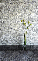 Kelp Forest, a water jet glass mosaic, shown in Alabaster.