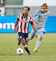 CARSON, CA - April 1, 2012: Nick LaBrocca (10) of Chivas during the Chivas USA vs Sporting KC match at the Home Depot Center in Carson, California. Final score Sporting KC 1, Chivas USA 0.