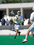 23 March 2008: University of Vermont Catamounts' Brandon Goodwyn, a Junior from Bethesda, MD, in action against the Bellarmine University Knights at Moulton Winder Field, in Burlington, Vermont. The Catamounts defeated the visiting Knights 9-7 at the Vermont home opener...Mandatory Photo Credit: Ed Wolfstein Photo