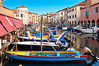 Fishing Boats outside the fish market on Riva Vena canal - Chioggia - Venice - Italy