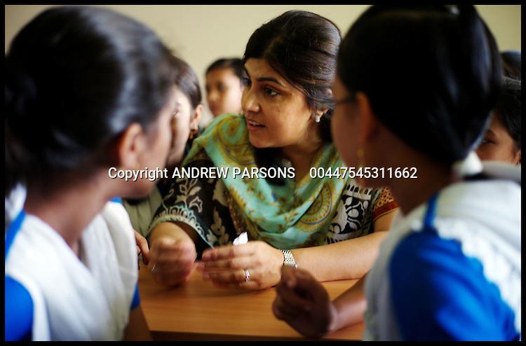 Conservative Party Co-Chairman Sayeeda Warsi  visits  Burunga Iqbal Ahmed High School on Project Maja, Burunga, Bangladesh, Wednesday September 21,  2011 Photo By Andrew Parsons/Parsons Media