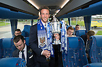 St Johnstone v Dundee United....17.05.14   William Hill Scottish Cup Final<br /> Chris Millar on the journey back to Perth<br /> Picture by Graeme Hart.<br /> Copyright Perthshire Picture Agency<br /> Tel: 01738 623350  Mobile: 07990 594431