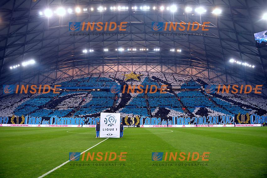 Tifosi Marsiglia <br /> Football Calcio 2014/2015<br /> Ligue 1 Francia Stadio VelodromeOlympique Marsiglia - Paris Saint Germain <br /> Foto Panoramic / Insidefoto <br /> ITALY ONLY
