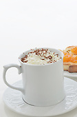 Breakfast with Hot Beverage with Chocolate Shavings