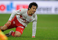 FUSSBALL   1. BUNDESLIGA   SAISON 2011/2012   18. SPIELTAG FC Schalke 04 - VfB Stuttgart            21.01.2012 Shinji Okazaki (VfB Stuttgart) enttaeuscht